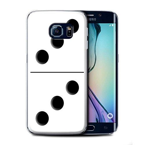 Stuff4 telefoonhoesje/hoes voor Samsung Galaxy S6 rand/witte tegel 3/3 ontwerp/Domino's/Dominos collectie