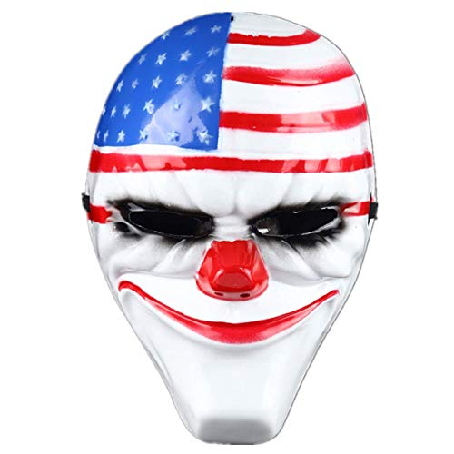 mywaxberry Halloween Festival Kostüm Party Payday Flagge Cosplay Maske