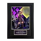 Taylor Alison Swift Signé Autographe d'affichage Photo d'affichage de la réessus, Taylor Alison Swift Signature Photo Cadre Photo,2