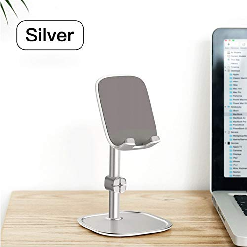 Rabusion Electronics For Mobile Phone Stand Holder for iPhone iPad Air Smartphone Metal Desk Desktop Phone Mount Holder for Xiaomi Huawei Tablet Silver