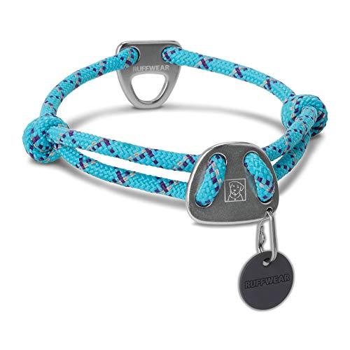 Ruffwear Seil-Halsband für Hunde, Große bis sehr große Hunderassen, Größenverstellbar, Reflektorstreifen, Größe: L (51-66 cm), Hellblau (Blue Atoll), Knot-a-Collar