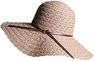BEESCLOVER Hot! Beach Female Brimmed Sunscreen Fishing Sport Manual Hat Lady Saves Sun Wave Side Straw Hat Summer Woman Panama Hat