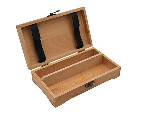 Paintersisters Stiftebox 2 aus Buchenholz FSC®, Holzkästchen, Schatulle mit Unterteilungen für Bunt- + Bleistifte