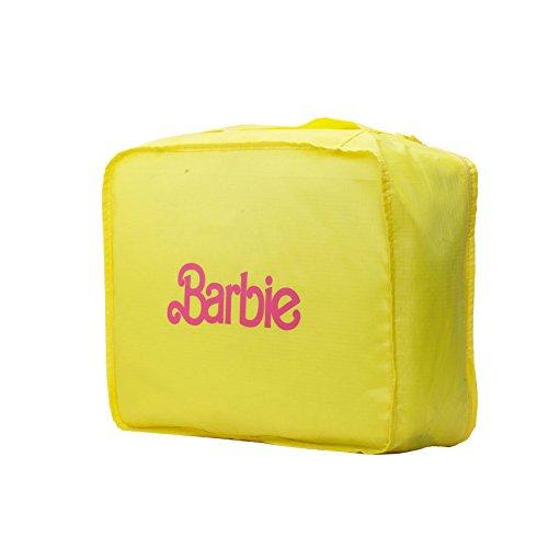 Barbie Bolsa de Maquillaje Bolsa de Lavado Mujer Viajes BBCM012 41 * 21 * 14cm(Amarillo)