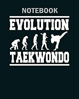 Notebook: evolution taekwondo - 50 sheets, 100 pages - 8 x 10 inches