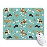 Gaming mouse pad baby spaß sommerurlaub haustier beagle bettdecke knochen clip rutschfeste gummi backing mousepad für notebooks computer maus matten