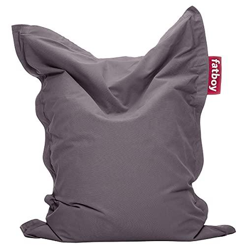 Fatboy® Junior Stonewashed grau | Original Baumwolle-Sitzsack | Klassisches Indoor Sitzkissen speziell für Kinder | 130 x 100 cm