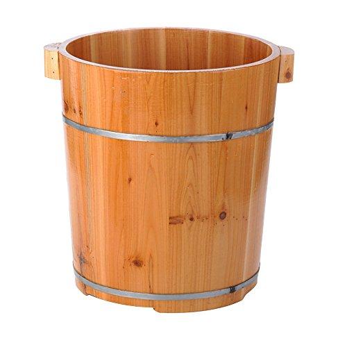 ERHANG Saunas Bassin De Pédicure, 40 Cm avec Pieds Baril Pied Baignoire Baril Pied Baril Pied Seau Maison Massage Accessoires,A