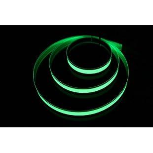 Lychee 1M 3ft Green Neon Glowing Strobing Electroluminescent Robbin El Tape belt (Lemon Green):Amedama