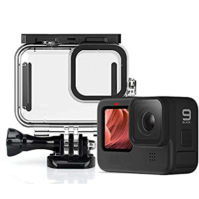 QKOO for GoPro Hero 9 Black 50m Underwater Waterproof Case Diving Protective Cover Housing Mount for GoPro 9 Black Accessories from QKOO