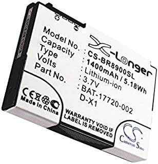 Cameron Sino 1400mAh / 5.18Wh Li-ion High-Capacity Replacement Batteries for Blackberry 8900, Storm , fits Blackberry BAT-17720-002, D-X1