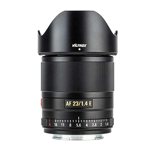 VILTROX AF 23mm f1.4 autofokus Objektiv kompatibel mit Sony E Mount wie A6600, A6500, A6400, A7, A9, A7II