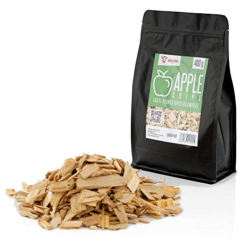 BBQ-Toro Apfel Smoker Chips Apfel Räucherchips | 400 gr | rauchintensive Smokerchips aus Apfelholz | Grillchips für Gasgrill, Smoker, BBQ (400)