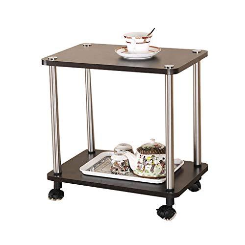 Étagère mobile Petite table à café pouvant être déplacée Poulie Table à thé Coin canapé Meuble à thé Chariot à thé pour la maison Chariot Roulant Meuble (Couleur : A)