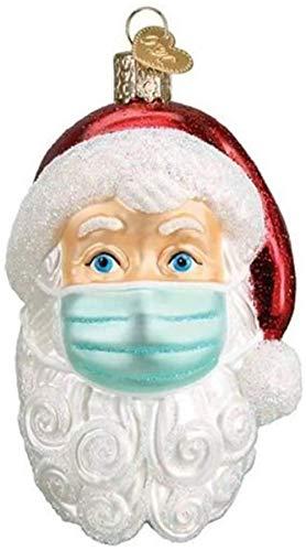 Timess Christmas Personalisierter Weihnachtsmann mit Mundschutz personalisierte Ornamente Weihnachtsbaumschmuck Feiertage Dekorationen Segen Weihnachtsmann Weihnachtsbaum Hängen Anhänger (A1)