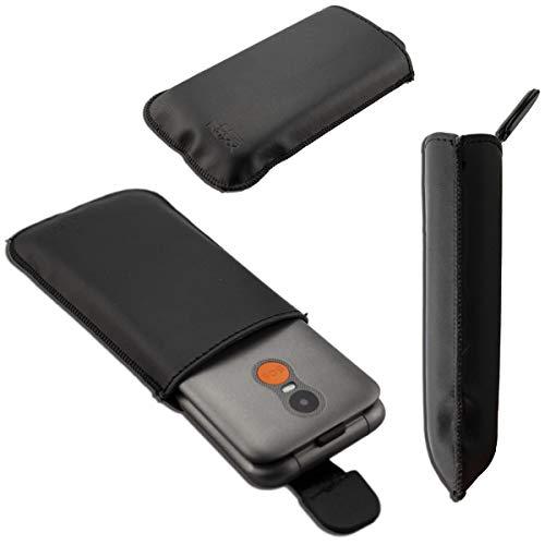 caseroxx Slide-Etui für Gigaset GL590, Tasche (Slide-Etui in schwarz)