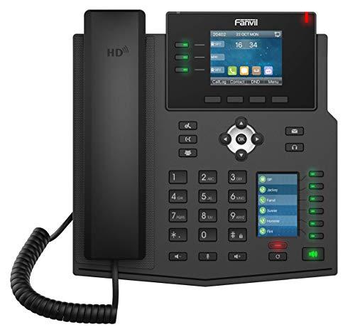 Fanvil X4U Gigabit SIP teléfono de Escritorio empresarial con Pantalla LCD de Doble Color