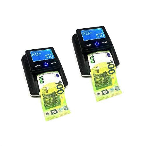 081 Store - 2X RILEVATORE BANCONOTE RILEVA CONTA SOLDI VERIFICA EURO FALSI CONTABANCONOTE USB