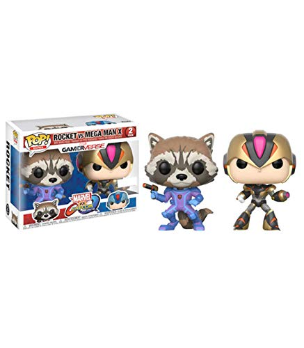 Marvel- Figura Pop Pack Cap MARV Rocket VS Megaman X, Multicolor (Last Level FFK22784)