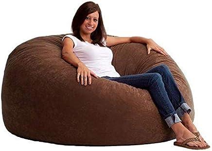 Comfy Large Seude Coffee Brown Bean Bag