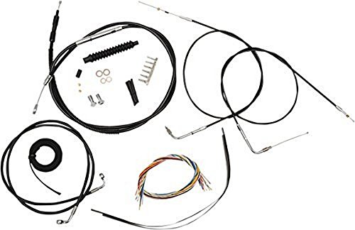 LA Choppers Black Complete Cable/Line/Wiring Handlebar Kit for 12