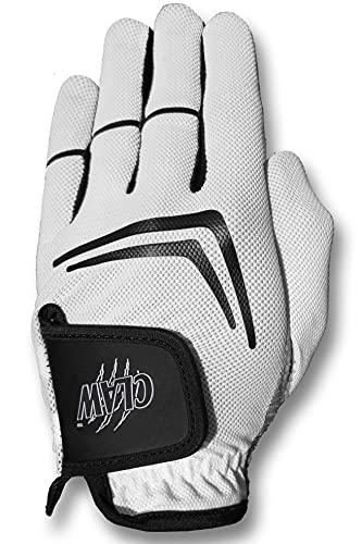 Claw White Golf Glove for Men Left Hand, Cadet Med - Breathable, Long Lasting Golf Glove by CaddyDaddy