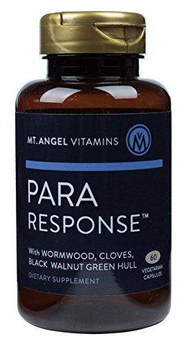 Mt. Angel Vitamins - para Response, Travelers Intestinal Support, Digestive Aid, Wormwood, Black Walnut & Cloves, 60 Vegetarian Capsules