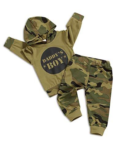 TUEMOS - Conjunto de ropa de bebé con diseño de camuflaje para mamá y niña