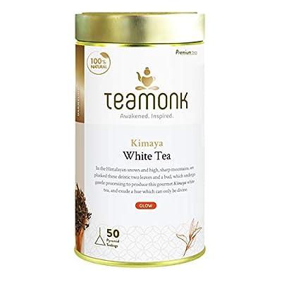 Teamonk Kimaya Darjeeling White Tea Bags - 50 Tea Bags   100 % Pure Natural White Tea   Powerful Antioxidant Tea   Relaxation Tea   No Additives - 50 Tea Bags