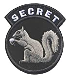 Secret Squirrel Military Hook Loop Tactics Morale Embroidered Patch