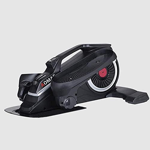 ZJDM Mini Zapatillas ovaladas de Escritorio con Pedal Ovalado Paso a Paso Debajo de la Mesa, diseño único, máquina silenciosa para Caminar en el Espacio, Negro
