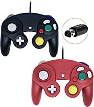 Poulep Wired Controller for Gamecube Game Cube, Classic Ngc Gamepad Joystick for Wii Nintendo Console (Black and Red)