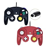 Gamecube Controller, Wired Gamepad for Nintendo Wii Console (Black and Red)
