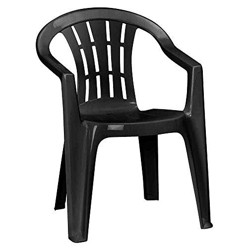 JARDIN 221039 Cuba Stapel-Sessel niedrig graphit Vollkunststoff