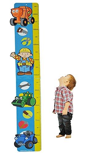 alles-meine.de GmbH Meßlatte - Moosgummi - Bob der Baumeister - Messlatte für Kinderzimmer Kinder Kind - Fahrzeuge Meßleiste als Wandsticker / Wandtattoo - Kindermesslatte - Bagg..