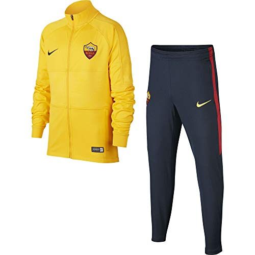 Nike AS Roma Original-Trainingsanzug für Kinder, Gelb (XS 116-128 cm, 6-8YRS)