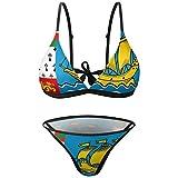 Traje de baño sexy con la bandera de San Pedro y Miquelón, traje de baño de playa, conjunto de bikini de 2 piezas para mujer