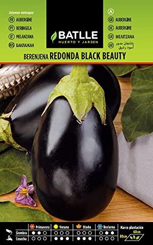 Semillas Hortícolas - Berenjena redonda negra Black Beauty - Batlle