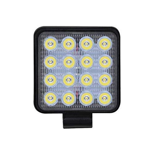 Acamptar Werklamp, vierkant, zwart, LED, 9-30 V, 48 W, SUV-lamp, auto-plafondlamp, gemodificeerde geschikt voor vrachtwagen, terreinwagen, strand, met bevestigingsschroeven