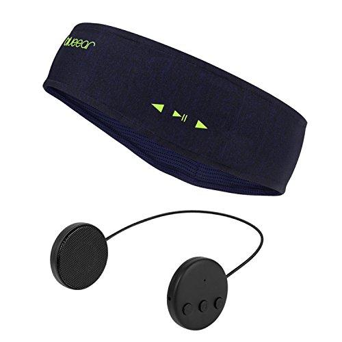 Blue Ear® Bluetooth Headband Pañuelo Deportivo de música Bluetooth V4.2, Cinta de Cabeza para Auriculares inalámbricos, con la función de Llamada, aplicable en Todas Las Temporadas(Dark Blue)