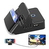 Ricambio per Nintendo Switch Dock-6amLifestyle Supporto di ricarica per interruttore portatile, con adattatore TV HDMI 4K, porta di ingresso USB C e struttura di raffreddamento