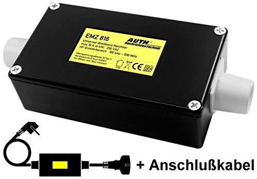 Netzfilter Universal-Breitband mit Überspannungsschutz, Modul mit Anschlußkabel (16 A, 100 kHz - 500 MHz)
