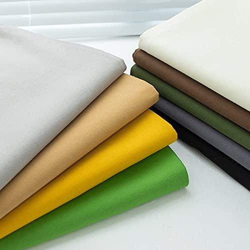Spessore 100% Tessuti in Tela di Cotone per Artigianato Fai da Te Tappezzeria Cucito Quilting Patchwork Abiti Fatti A Mano Tende Tovaglia Cuscino Divano Fai da Te Borsa(Size:5m,Color:14 Green)