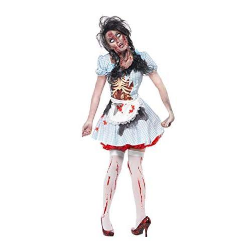 Smiffy's 352974 - Costume per travestimento da Horror Zombie Dorothy, Donna, S