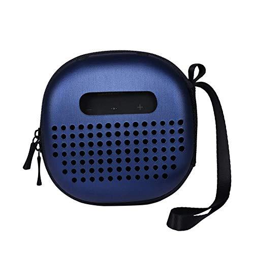 Maliyaw Estuche Protector Azul Compatible para el Altavoz Micro Bluetooth Bose SoundLink, la Mejor combinación de Formas, Orificio de Altavoz Inferior, Resistente y Duradero, Cremallera Segura