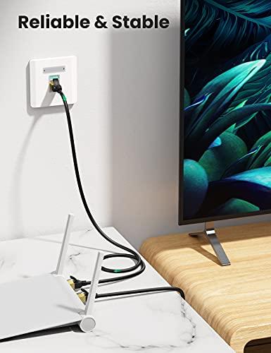 UGREENLANケーブルCAT7準拠ギガビット爪折れ防止10Gbps/600MHzカテゴリー7シールドイーサネットRJ45モデムパッチパネルアクセスポイント等に対応ブラック3m