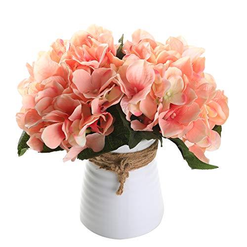 Veryhome Künstlich Hortensie Blüten Seide Gefälschte Blume Blumenstrauß Arrangieren Familie Hochzeit Garten Blume Dekoration Hortensie
