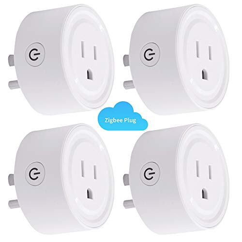 [4PC] HIBRO Zigbee Smart Plug Outlet Compatible With Alexa, Echo, SmartThings Hub, alexa outlet,Smart switches Remote Control Your Home Appliances from Anywhere,alexa accessories