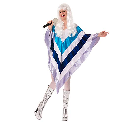 unbranded 70er Jahre Kostüm Super Disco 1970 Eurovision Trooper Poncho Cape Kostüm