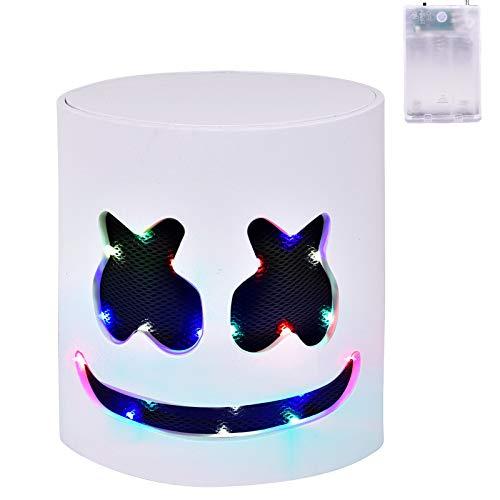 DJ LED Mask - Music Festival Full Head Helmet Light Up Cosplay Mask for Halloween Party Thanksgiving Christmas